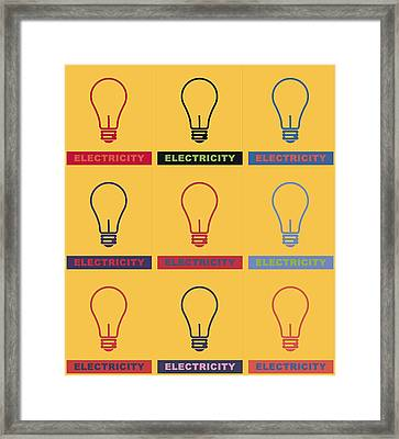 Electric Lamps Framed Print by Tommytechno Sweden
