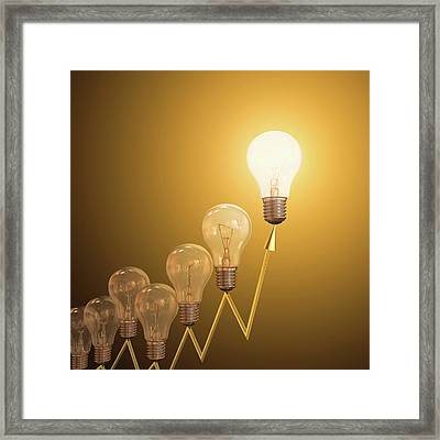 Electric Light Bulbs Framed Print by Ktsdesign