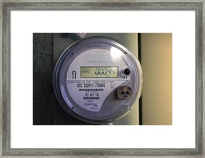 Framed Print featuring the photograph Electric Meter by Richard Stephen