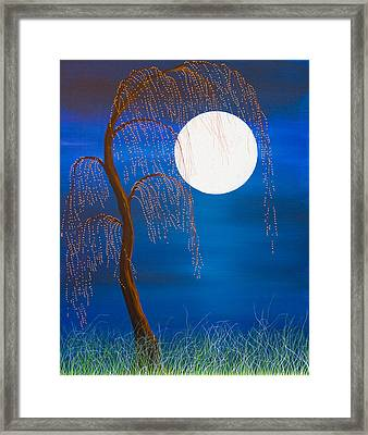 Electric Moonlight Framed Print