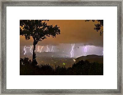 Madison County Under The Lights Framed Print