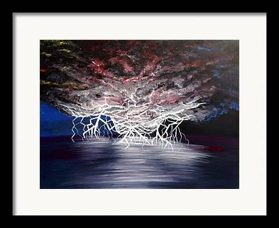 Unusual Lightning Paintings Framed Prints