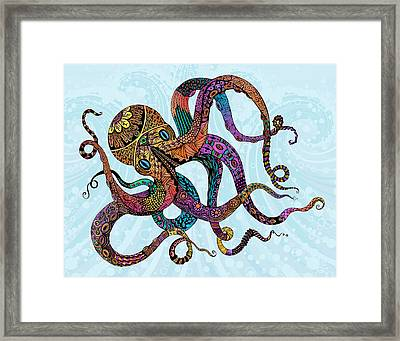 Electric Octopus Framed Print by Tammy Wetzel