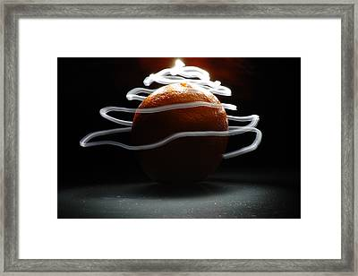 Framed Print featuring the photograph Electric Orange by Michael Donahue