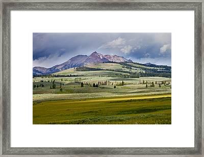 Electric Peak Framed Print