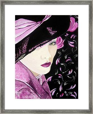 Electric Pink Framed Print by Rosemarie Temple-Smith