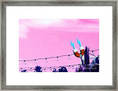 Electric Pink Framed Print