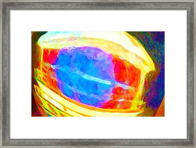 Electric Primary Infusion Framed Print