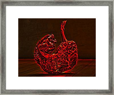 Electric Red Pepper Framed Print
