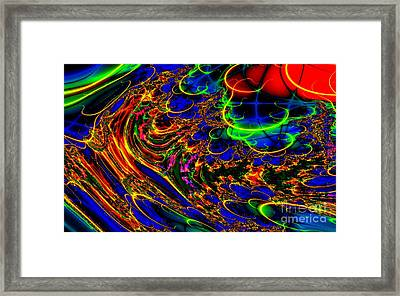 Framed Print featuring the digital art Electric Sea by Steed Edwards