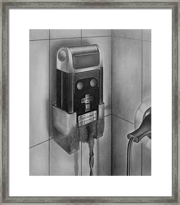Electric Shaver With Beard - Pencil Framed Print by Art America Gallery Peter Potter