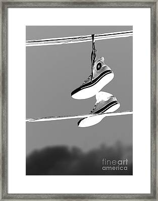 Electric Shoes Framed Print by Steven Milner