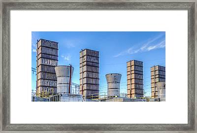 Electric Stacks Framed Print