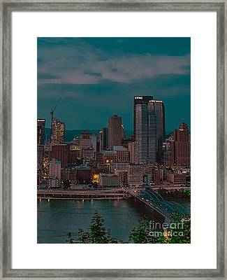 Electric Steel City Framed Print