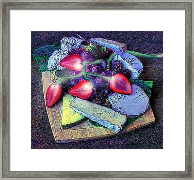 Electric Strawberries Framed Print by ARTography by Pamela Smale Williams