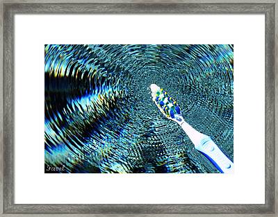 Electric Toothbrush Framed Print