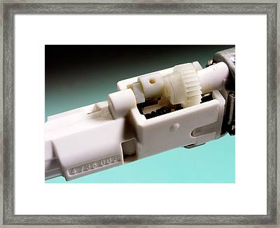 Electric Toothbrush Mechanism Framed Print