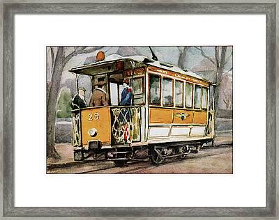 Electric Tram Framed Print by Cci Archives