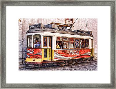Electric Trolly Of Lisbon Framed Print