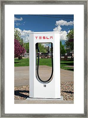 Electric Vehicle Charging Station Framed Print by Jim West