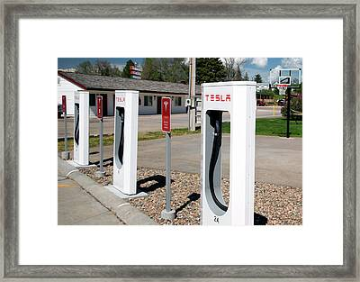 Electric Vehicle Charging Stations Framed Print by Jim West