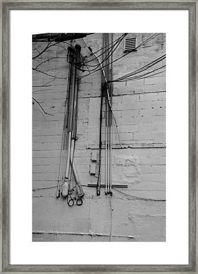 Electric Wall In Black And White Framed Print by Rob Hans