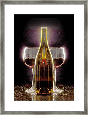 Electric Wine Framed Print by Jon Neidert