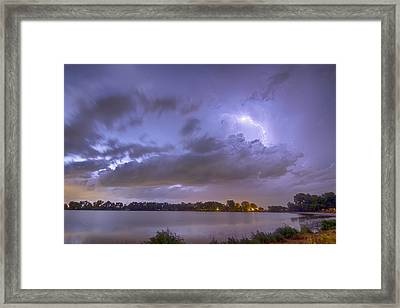 Electrical Arcing Cloud Framed Print by James BO  Insogna