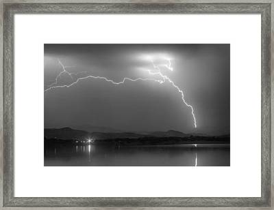 Electrical Arcing Night Sky  Framed Print by James BO  Insogna