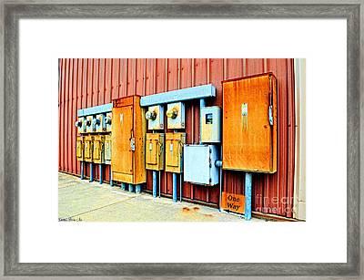 Electrical Boxes I Framed Print