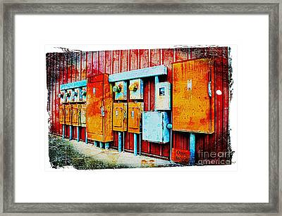 Electrical Boxes II Framed Print