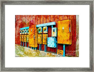 Electrical Boxes Iv Framed Print