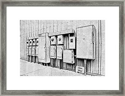 Electrical Boxes V Framed Print