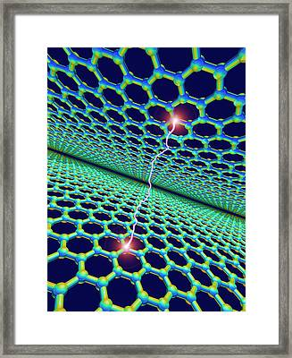 Electrical Charge Conduction Of Graphene Framed Print by David Parker