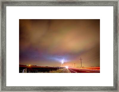 Electrical Charged Green Lightning Thunderstorm Framed Print by James BO  Insogna