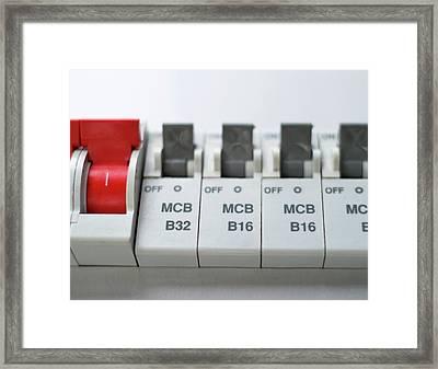 Electrical Circuit Breakers Framed Print