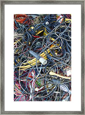 Electrical Cord Picking Framed Print