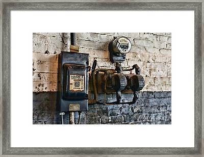 Electrical Energy Safety Switch Framed Print