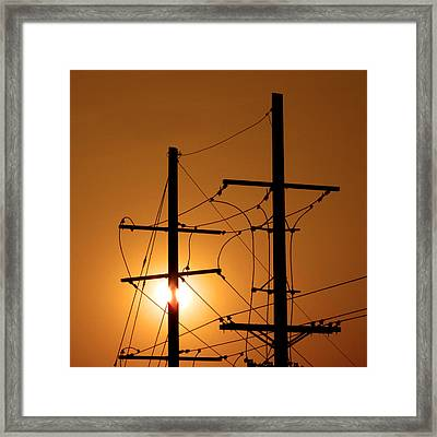Electrical Power Lines Framed Print by Don Spenner