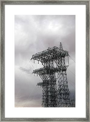 Electrical Transmission Tower Framed Print by Jim West