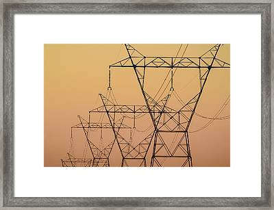 Electrical Transmission Towers Framed Print