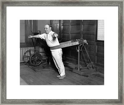 Electrical Vibrating Machine Framed Print by Underwood Archives