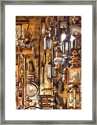 Electrician - Let There Be Light Framed Print by Mike Savad