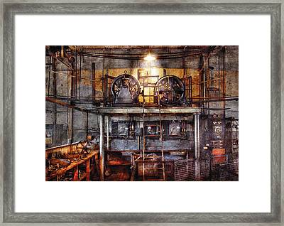 Electrician - Turbine Station Framed Print