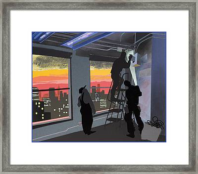 Electricians Framed Print by Clifford Faust