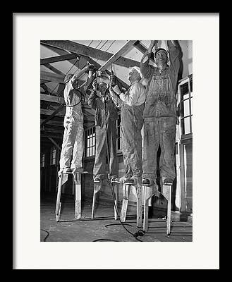 Blue Collar Framed Prints