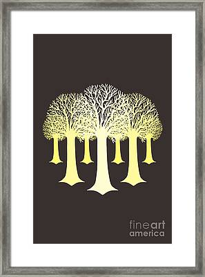 Electricitrees Framed Print