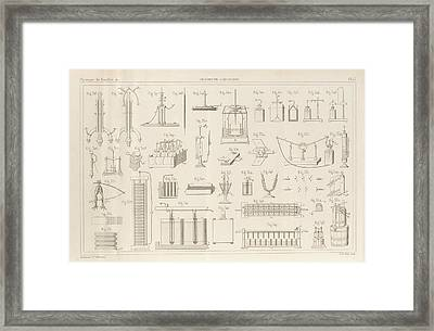 Electricity And Galvanism Framed Print by King's College London