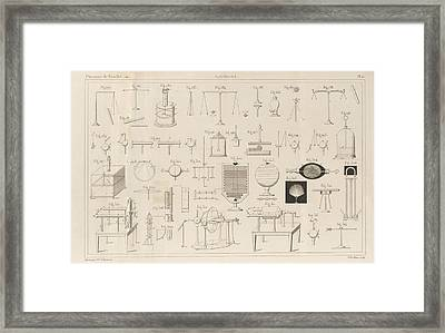 Electricity Experiments Framed Print by King's College London