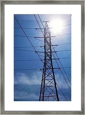 Electricity Pylon Framed Print by Jim West